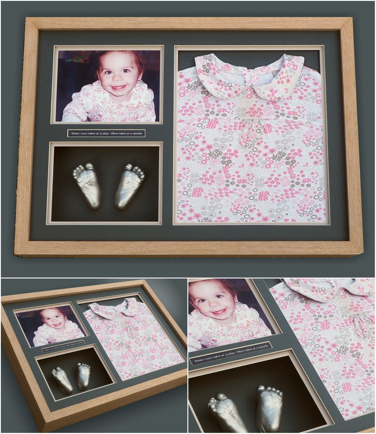Baby keepsake frames