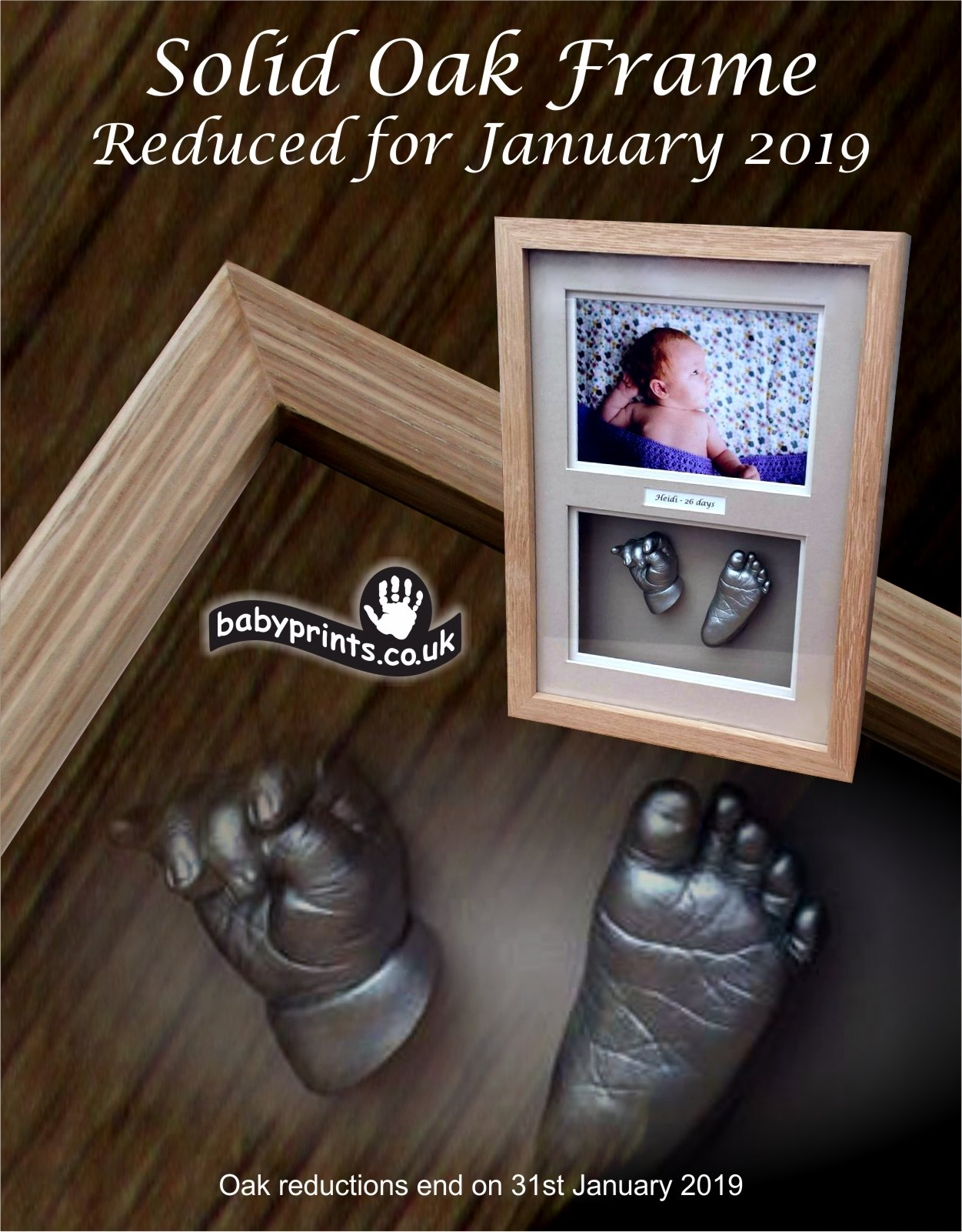 Life casts and Oak frame offer January 2019
