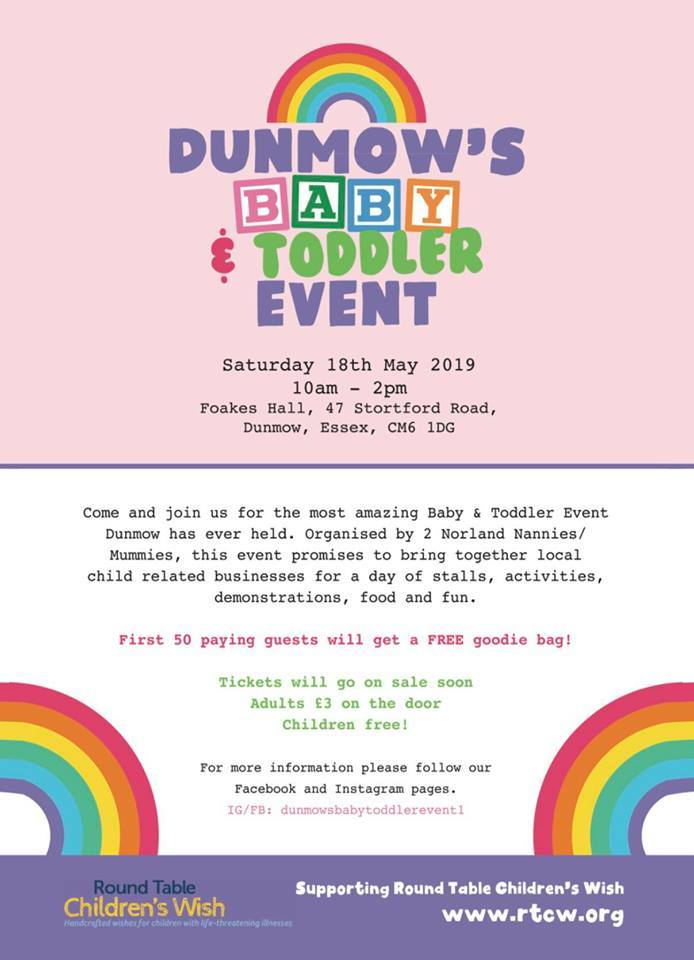 Dunmow's Baby & Toddler Event 2019