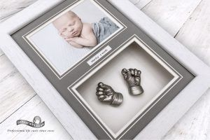 Babyprints Buckinghamshire charcoal silver and white combination